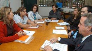 Representantes do Sind-UTE são recebidos pelas secretárias de Educação e de Planejamento