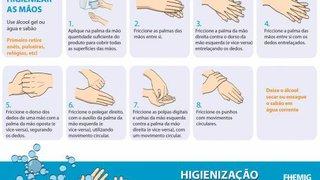 Fhemig lança campanha para higienização das mãos e caderno de Protocolos Clínicos