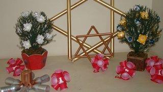 Epamig prepara decoração de Natal com material reciclável