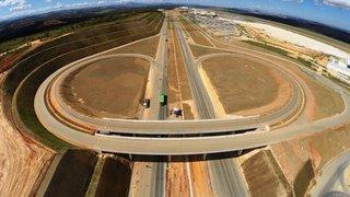 Obras de acesso ao Aeroporto Internacional Tancredo Neves estão em fase final