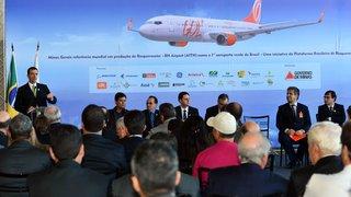 Governo de Minas e Gol realizam o 1º voo Verde do Aeroporto Internacional Tancredo Neves