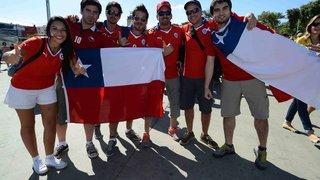 Chilenos chegam em caravanas e também marcam presença no Mineirão
