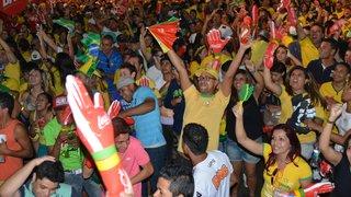 Onda verde e amarela toma conta da FIFA Fan Fest em BH neste sábado (28/06)