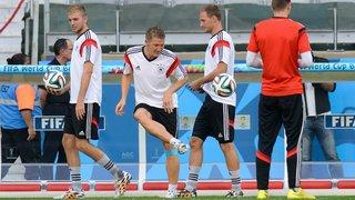 Seleção da Alemanha treina no Mineirão na preparação para a semifinal contra o Brasil