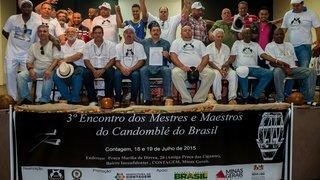 Associação dos Mestres do Candomblé Brasileiro é fundada durante encontro inédito em Minas